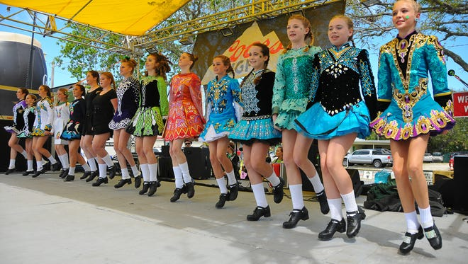 Irish dancers will be among the featured entertainers at Meg O'Malley's 22nd annual St. Patrick's Festival on Saturday, March 13, in downtown Melbourne. Pictured are dancers from the Rondeau School of Irish Dance who performed at a previous event.