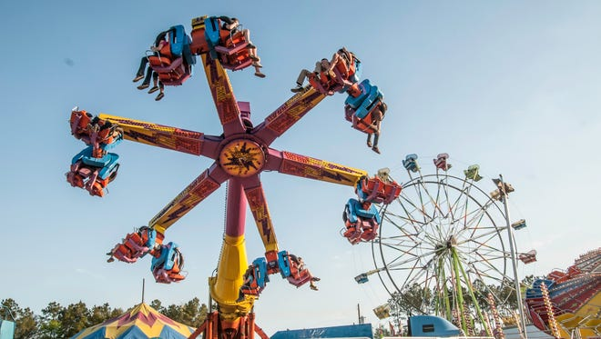 Rides will be among the attractions at the Santa Rosa County Fair. The 26th annual fair opens on Friday, March 31, 2017.