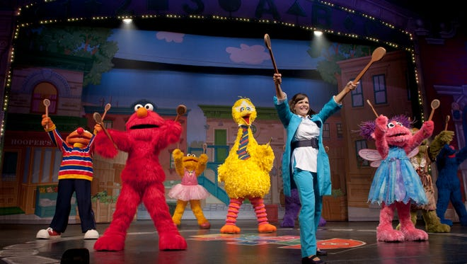 """""""Sesame Street Live: Elmo Makes Music"""" will take the stage Friday through Sunday at Downtown's Abraham Chavez Theatre."""
