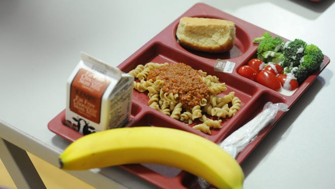 A meal served at Emmeline Cook Elementary School in Oshkosh.