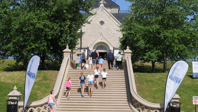 Community event of public viewing of the Gatehouse at the Louisville Water Company Reservoir on Frankfort Ave.