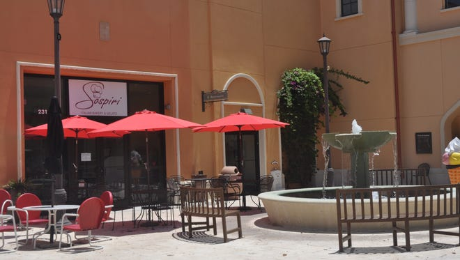 Sospiri is located in a courtyard off Village Shops Way in the Coconut Point mall.