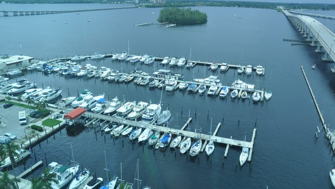 Many of the apartments overlook the marina and Caloosahatchee River.