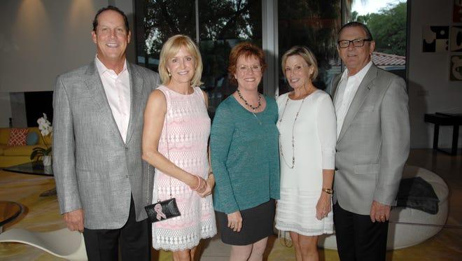 (left to right) Curt Dunham, Selby Dunham, Sarah G. Clapp, board president Lori Serfling, and Aubrey Serfling.