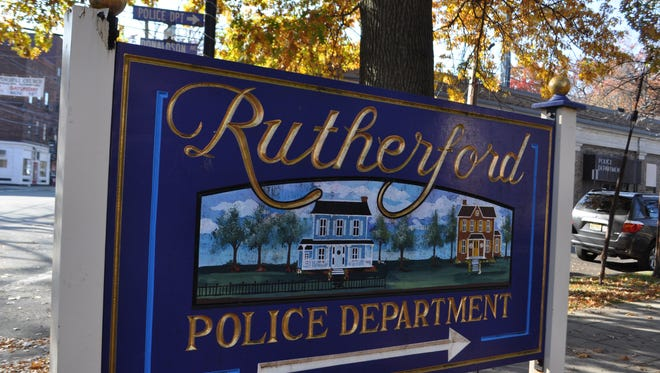 A sign for the Rutherford Police station.