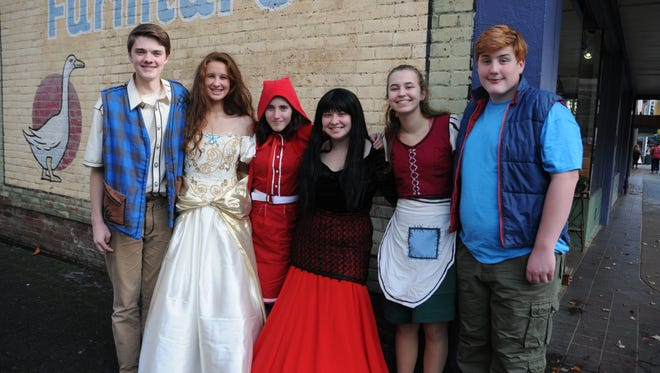 "From left,  Hunter Griffin, Phoebe Jacobs, Zailii Mills, Hannah Wood, Tova Mertz and Harry Logan are cast members of West Salem High School's musical ""Into the Woods, which continues this weekend."