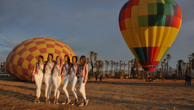 Miss France contestants visited the Coachella Valley over the 2017 Thanksgiving holiday.