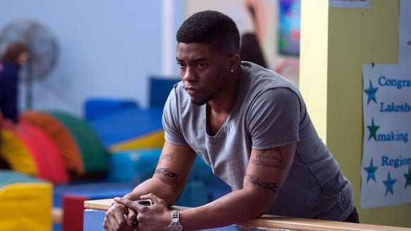 "Chadwick Boseman in a scene from ""Draft Day."""