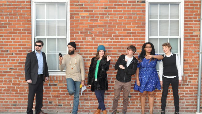 """The cast of """"Wolf at the Door"""" includes (from left) Brendan Chambers, Chuck Filipov, Aba Kiser, Dylan Porter, Jade Evans and Michelle Hensel."""