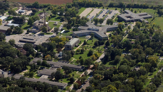 The Winnebago Mental Health Institute can be seen in this aerial photo from 2009.