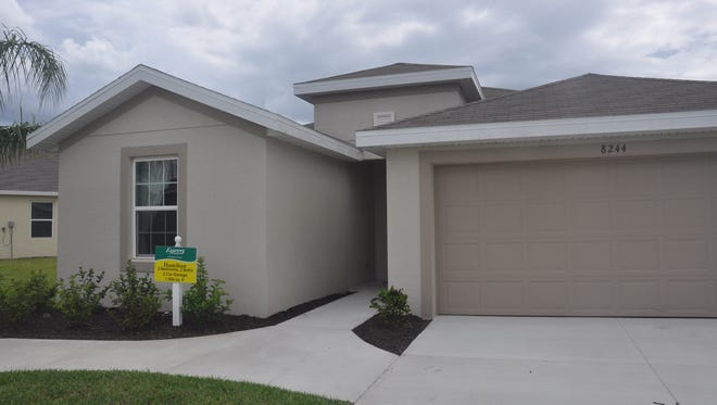 The Hamilton by D.R. Horton's Express Homes brand is one of two new models at Town Lakes in Lehigh Acres.