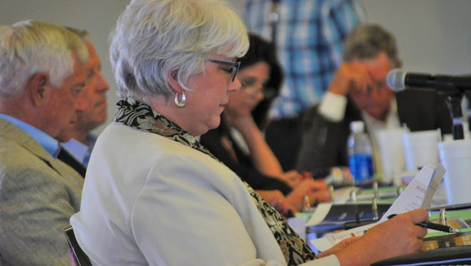 Rep. Cathrynn Brown during a meeting of the Legislative Finance Committee June 5 in Carlsbad, New Mexico.