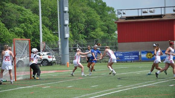 Bronxville freshman Victoria Ruffo sneaks ball through
