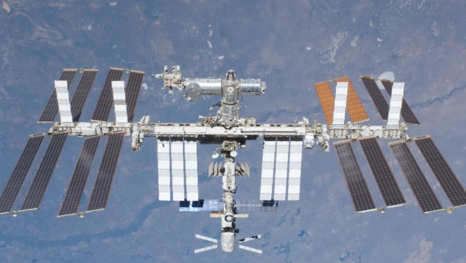 NASA The International Space Station in 2011.