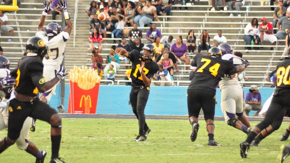 Grambling quarterback Johnathan Williams (17) makes his second straight start Saturday against Alcorn State.