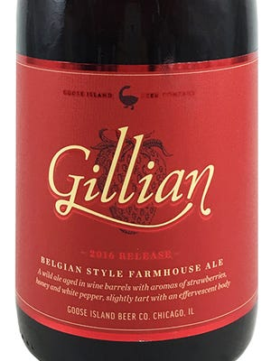 Gillian Belgian-Style Farmhouse Ale, from Goose Island Beer Co. in Chicago, is 9.5% ABV.