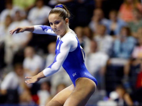 No. 7 Top 10 Sports Events: Carly Patterson performs her floor routine during the 2004 U.S. Gymnastics Championships' senior women's event at the Gaylord Entertainment Center June 3, 2004.