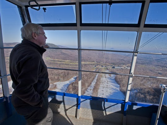 Jay Peak Resort president Bill Stenger looks out over