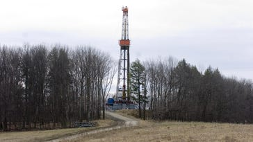 A natural gas drilling site is shown in 2010 in Dimock, Pennsylvania.
