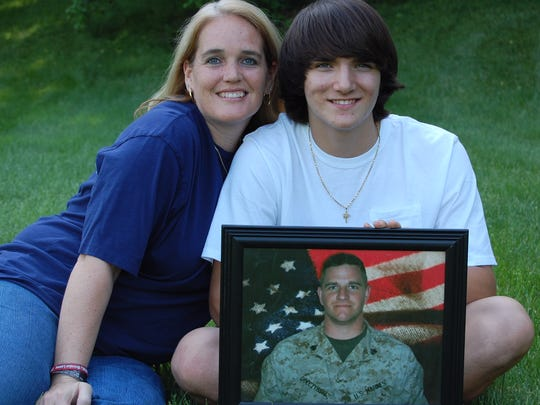 Christian and Heather Golczynski continue to honor the memory of Marine Staff Sgt. Marcus Golczynski, who died from enemy fire in Iraq.