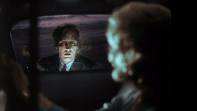"""Herk Harvey (left) and Candace Hilligoss in a scene from """"Carnival of Souls."""""""