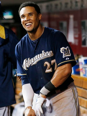 Carlos Gomez won the 2013 Gold Glove with the Brewers and proved to be the source of many memorable moments.