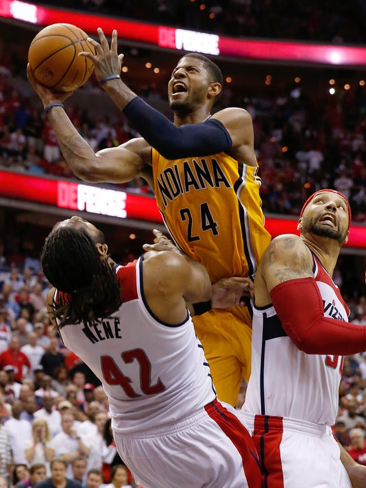 APTOPIX Pacers Wizards Basketball