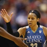 Minnesota Lynx forward Maya Moore celebrates against
