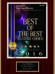 "Toy Market has been voted ""Best Toy Shop in South Jersey"""