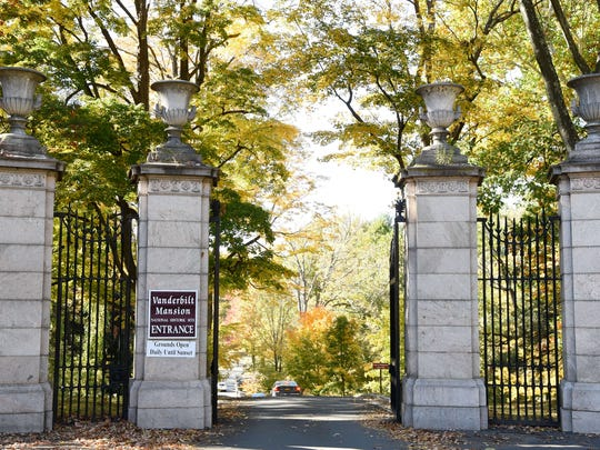 The gates at the entrance to the Vanderbilt National Historic Site in Hyde Park on Wednesday.