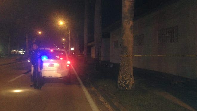 A person was shot in the 3800 block of Palm Beach Boulevard just before 9:30 p.m. Friday night.