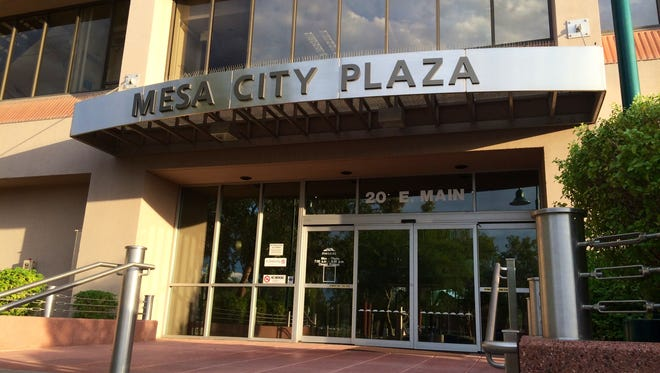 The Mesa City Plaza is located at 20 E. Main Street.