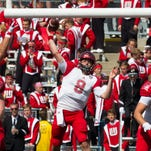 Miami quarterback Drew Kummer throws a pass during the game against Wisconsin on Saturday in a 58-0 loss to the Badgers.