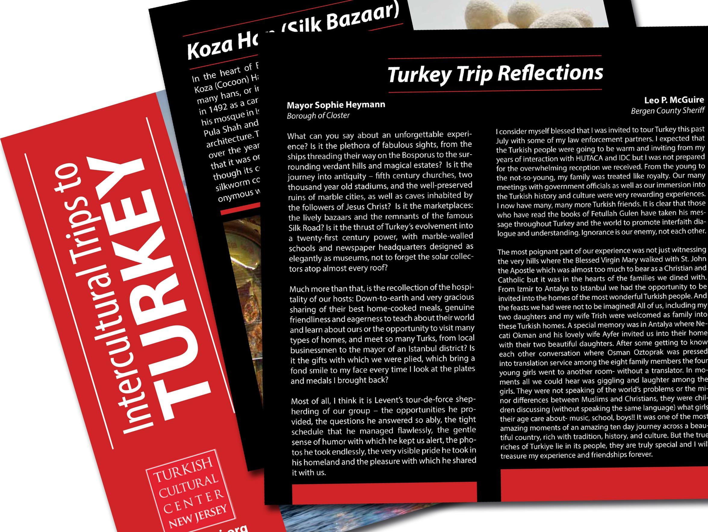 Leo P. McGuire's reflections in Turkey trip brochure