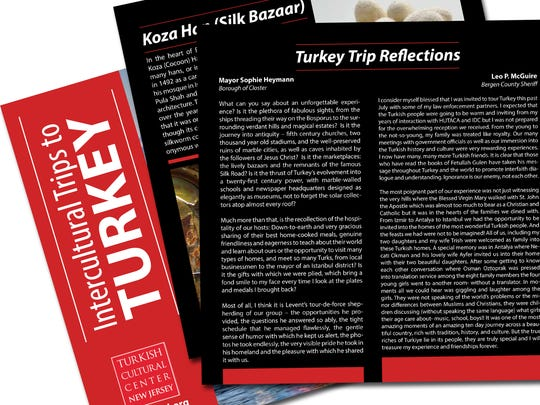 Leo P. McGuire's reflections in Turkey trip brochure