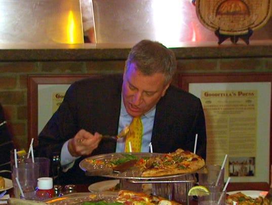 nyc mayor pizza
