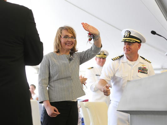 USS Gabrielle Giffords christened