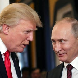 Trump's claims of Russian meddling as a 'hoax' hit choppy waters with FBI indictments