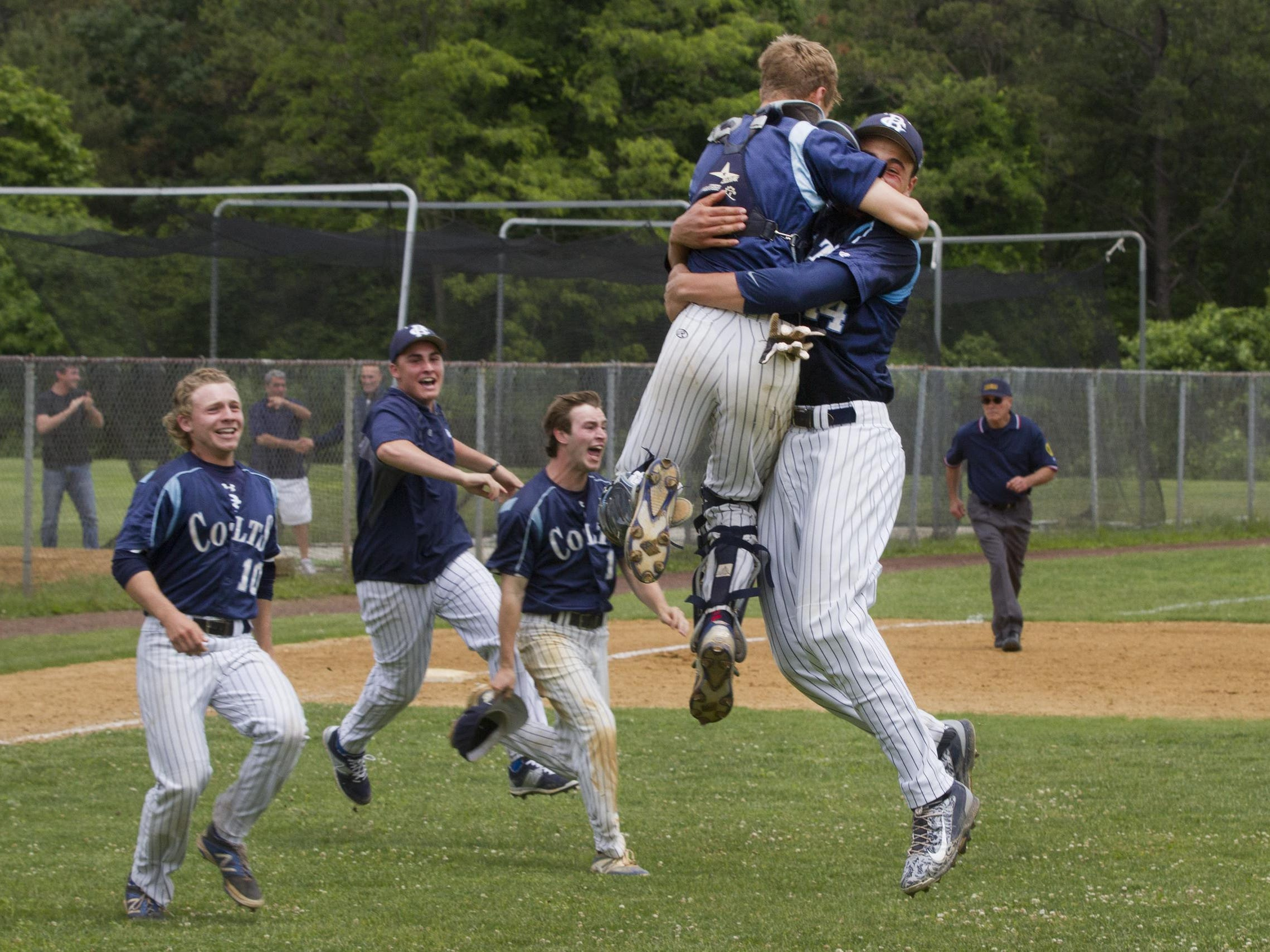 CBA catcher Brandon Martorano (center left) and pitcher Luca Dalatri (center right) Are USA Today High School Sports All-USA New Jersey First Team selections Wednesday