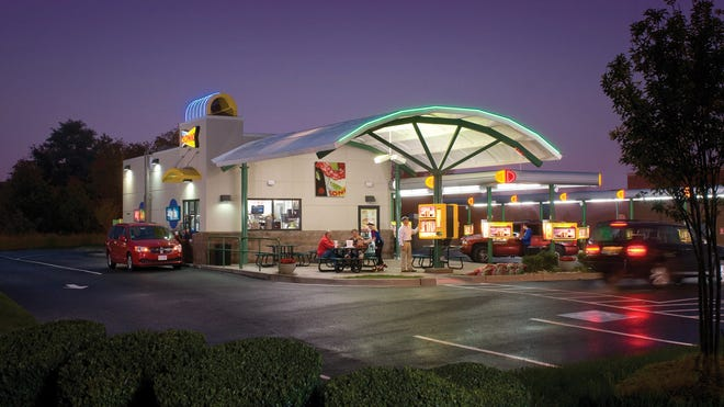Sonic, an Oklahoma-based restaurant chain, is known for nostalgic car ports as well as modern dining options, such as a drive-through window and sit-down eating.