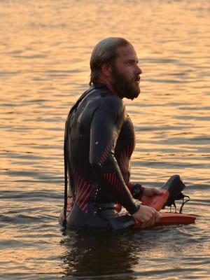Navy combat veteran Chris Ring, 28, is attempting to swim the entire Mississippi River to bring awareness to Gold Star families.