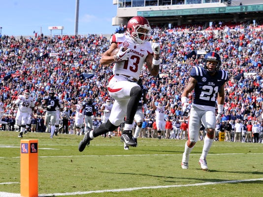 NCAA Football: Arkansas at Mississippi