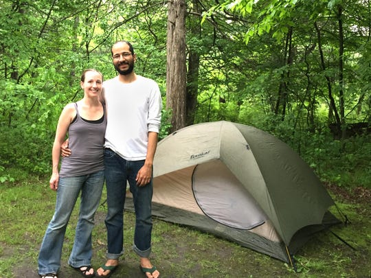 Shannon Roach and Amr Kadry, both of Minneapolis, camped