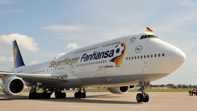 This special-livery Lufthansa 747 flew the World Cup champions home to Germany on July 14, 2014.