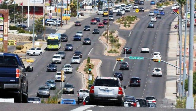 Traffic flows Friday afternoon along North Mesa Street near Coronado High School.