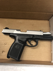 Handgun with obliterated serial number reportedly found by Oxnard police in a Dodge Journey Friday.