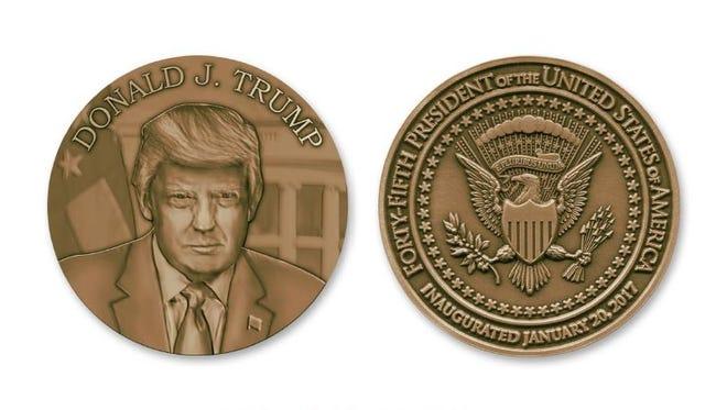 Trump inaugural medallion