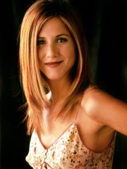 """As Rachel in """"Friends,"""" Aniston established a TV icon and launched an iconic hairdo."""
