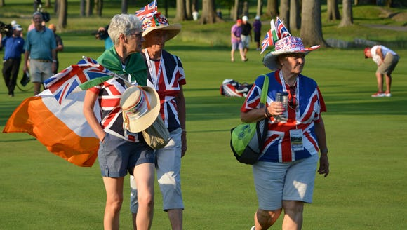 The most vocal fans on the course were cheering on