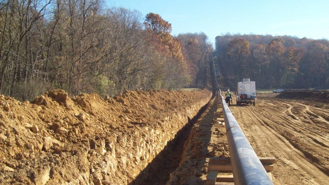 The above photo is from a pipeline construction project completed by Eastern Shore Natural Gas Company in 2010.  This pipeline is similar to what would be put in place for the 2017 system expansion project.  Construction on this project is scheduled to begin in mid-2017, after Eastern Shore has received all necessary approvals.